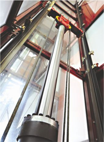 Inner view of Hydraulic Elevator